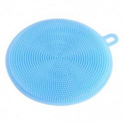 Kék 4,5 hüvelykes többcélú élelmiszer-minőségű antibakteriális szilikon Smart Sponge Dish Kitchen