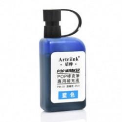 Kék 25ml Alkohol tintapatron újratöltése POP plakát reklámjelző toll feltöltésére