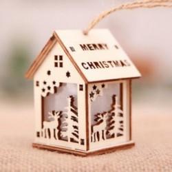 Kis Elk LED fény fa ház aranyos karácsonyfa lóg díszek Holiday Decor ajándékok