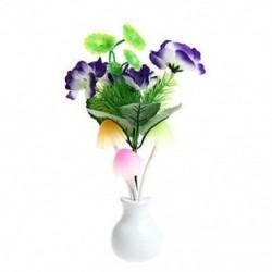 Lila virág Romantikus amerikai dugó virág gomba LED éjszakai fény érzékelő baba ágy szoba lámpa dekoráció