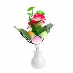 Szilvavirág virág Romantikus amerikai dugó virág gomba LED éjszakai fény érzékelő baba ágy szoba lámpa dekoráció