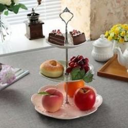 Rozsdamentes 3 Tier acél kerek Cupcake állvány esküvői születésnapi torta