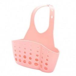 Rózsaszín Konyhai mosogató szivacs tartó Rack fürdőszoba függő szűrő szervező tároló ajándék