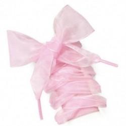 Rózsaszín 1 pár cipőfűzős sík selyem szatén szalag sport cipő csipkék cipők shoestrings