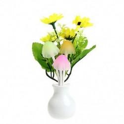 Napraforgó virág US Plug romantikus virág gomba LED éjszakai fényérzékelő baba ágy szoba lámpa dekoráció