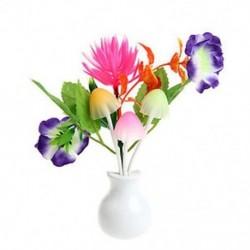 Lótusz virág US Plug romantikus virág gomba LED éjszakai fényérzékelő baba ágy szoba lámpa dekoráció