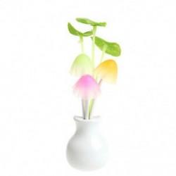 Lotus Leaf US Plug divat virág gomba LED éjszakai fényérzékelő baba ágy szoba lámpa dekoráció