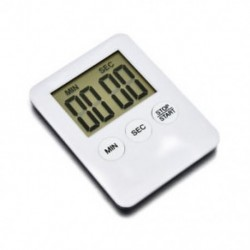Piros 1 X Nagy LCD digitális konyhai főzési időzítő Count-Down Up Clock Alarm mágneses