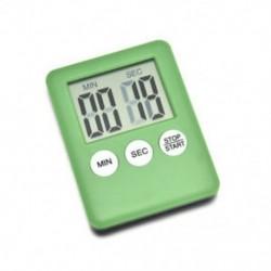 Zöld Mágneses nagy LCD digitális konyhai főzési időzítő Count-Down Up Clock Alarm Hot