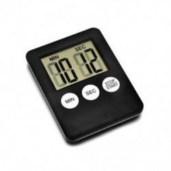 Fekete Nagy LCD digitális konyha főzés időzítő visszaszámlálás ébresztőóra mágneses forró