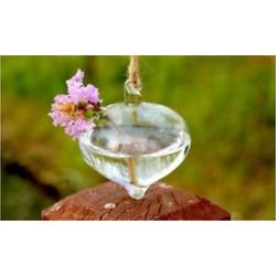 Lámpás alakú 1 x átlátszó függő üvegbab labdák gyertya Tealight tartó fél esküvői dekoráció