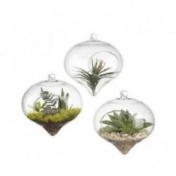 Hagyma alakú 1 x átlátszó függő üvegbab labdák gyertya Tealight tartó fél esküvői dekoráció