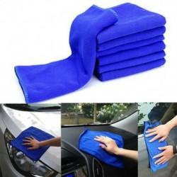 6PCS mikroszálas abszorbens törülköző üvegajtó autó tisztítása mosás lengyel törölköző kék