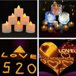 Sok 6PCS Láng nélküli LED Tealight villogó teás fény gyertya Esküvői karácsony