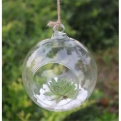 Kerek alakú Üveg lógó labda váza virág növény pot terrárium konténer fél esküvői dekoráció
