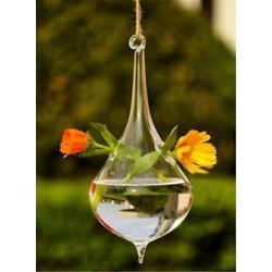 Vízcsepp alakú Üveg lógó labda váza virág növény pot terrárium konténer fél esküvői dekoráció