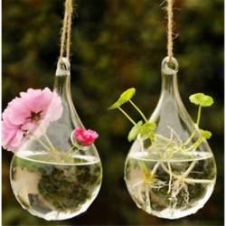 Csepp alakú Kreatív függő üveg virág ültetvény váza terrárium konténer kerti lakberendezés