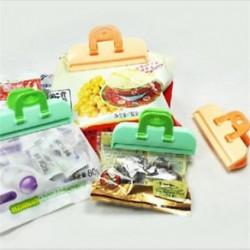 4x konyhai tároló táska Clip Seal Szervező Friss Élelmiszer Chips Snack Bag Clips eszköz