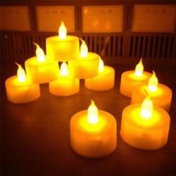 6db láng nélküli LED villogó tea fény gyertyák esküvői karácsonyi dekoráció akkumulátor