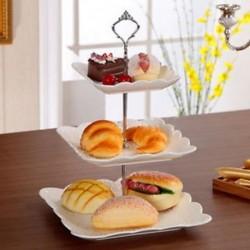 Rozsdamentes acél 3 Tier Round Cupcake állvány esküvői születésnapi torta