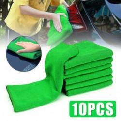 10Pcs Micro Fiber Auto autóalkatrészek tisztítása puha ruhával Zöld törülköző Duster Wash