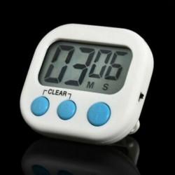fehér Nagy LCD digitális konyha főzési időzítő Count-Down Up óra hangos riasztás mágneses