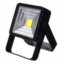 Fekete 15W hordozható napelemes LED újratölthető lámpa kültéri kemping udvari lámpa