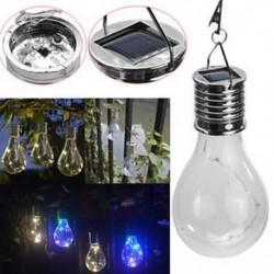 5 Led napelemes izzó 15W hordozható napelemes LED újratölthető izzó fény udvari kemping lámpa