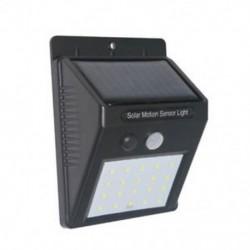 1 Csomag Vízálló 20 LED napenergia Power PIR mozgásérzékelő fali fény Kültéri kerti lámpa