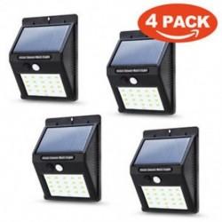 4PACK Vízálló 20 LED napenergia Power PIR mozgásérzékelő fali fény Kültéri kerti lámpa