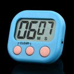 Kék Új nagy LCD digitális konyhai főzési időzítő Count-Down Up óra hangos riasztó eszköz