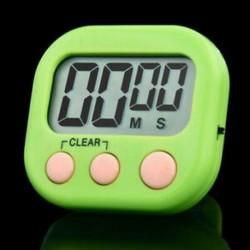 Zöld Új nagy LCD digitális konyhai főzési időzítő Count-Down Up óra hangos riasztó eszköz