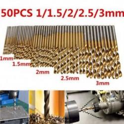50db Hss nagysebességű acél titán bevonatú fúrószerszám készlet 1 / 1,5 / 2 / 2,5 / 3mm HOT