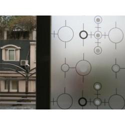 Kör PVC vízálló adatvédelem Matt homlokzati hálószoba fürdőszoba ablak matrica üvegfólia