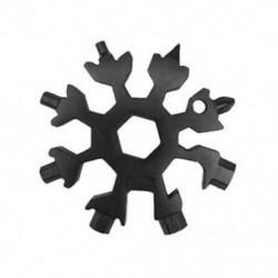 Fekete Snowflake Multi Tool 19-1 hópehely acél alakzat lapos kereszt háztartási kéziszerszám