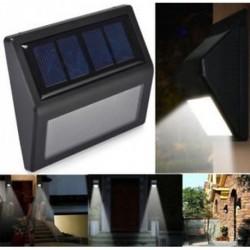 1 Pack-6 LED Vízálló LED Solar Power PIR mozgásérzékelő fali fény szabadtéri kert udvari lámpa