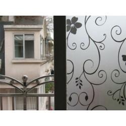 Kovácsoltvas virág 45CMx2M PVC vízálló adatvédelmi hálószoba Fürdőszoba Fagyott ablakfilm matrica