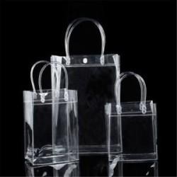 20 * 28 * 10 cm Hordozható tiszta vinil átlátszó Tote Gft táska Tote erszényes váll táska PVC