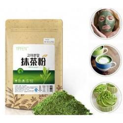 Matcha por zöld tea Pure Organic Certified Natural Premium laza 100G / táska
