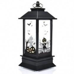 * 3 2018 Vintage Halloween tök kastély könnyű lámpa fél függő dekoráció LED lámpa
