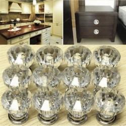 12x kristályüveg ajtó gombok fiókszekrény bútor konyhai fogantyú kiváló minőségű