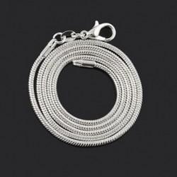 22 hüvelyk Divat férfi nők 2mm kígyó lánc ezüstözött nyaklánc ékszer 18 &quot 20&quot  22 &quot 24&quot