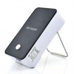 Fekete Elektromos Mini Fan Space Heater Hordozható Téli Melegebb Home Office Desktop Új