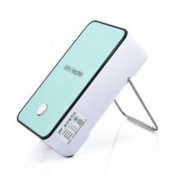 Zöld Elektromos Mini Fan Space Heater Hordozható Téli Melegebb Home Office Desktop Új