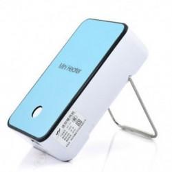 Kék Elektromos Mini Fan Space Heater Hordozható Téli Melegebb Home Office Desktop Új