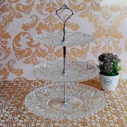 Crystal Acrylic 3 Tier Round Cupcake állvány esküvői születésnapi torta