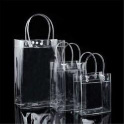 13 * 19 * 8 cm-es Hordozható átlátszó átlátszó Tote Gft táska erszényes váll táska PVC méret S / M / L