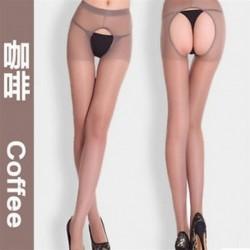 Kávé Forró nők szexi nyitott nyakörv Crotchless puszta harisnya harisnya harisnya divat