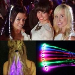 Hot Fiber Optic Hair LED fények születésnapi party ajándék táskák karácsonyi jelmez klipek