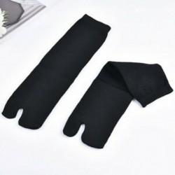 Fekete 1Pair férfi női japán kimonó flip flop szandál Split toe Tabi Ninja zokni